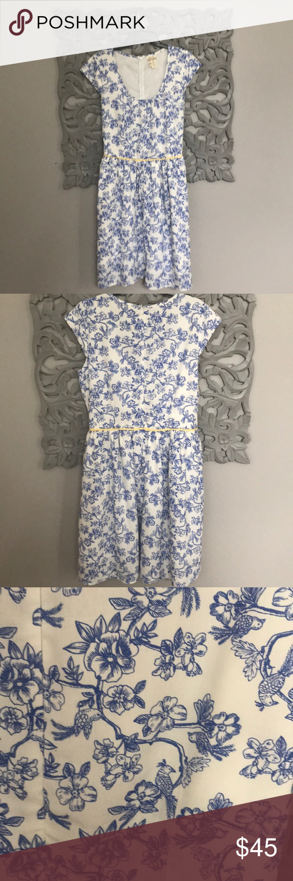 6187f36ae2d9 Matilda Jane Hello Lovely Bluebell Dress NWOT Matilda Jane Women s Dress  NWOT. Beautiful Floral Blue and White Bird Print with a Splash of Yellow at  Waist .