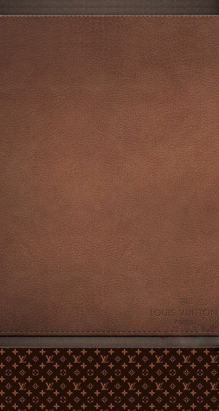 Brown Leather Louis Vuitton Wallpaper Homescreen
