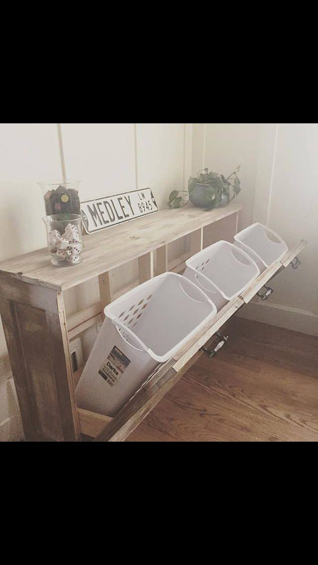 Wood Tilt Out Trash Or Recycling Cabinet Laundry Room Design