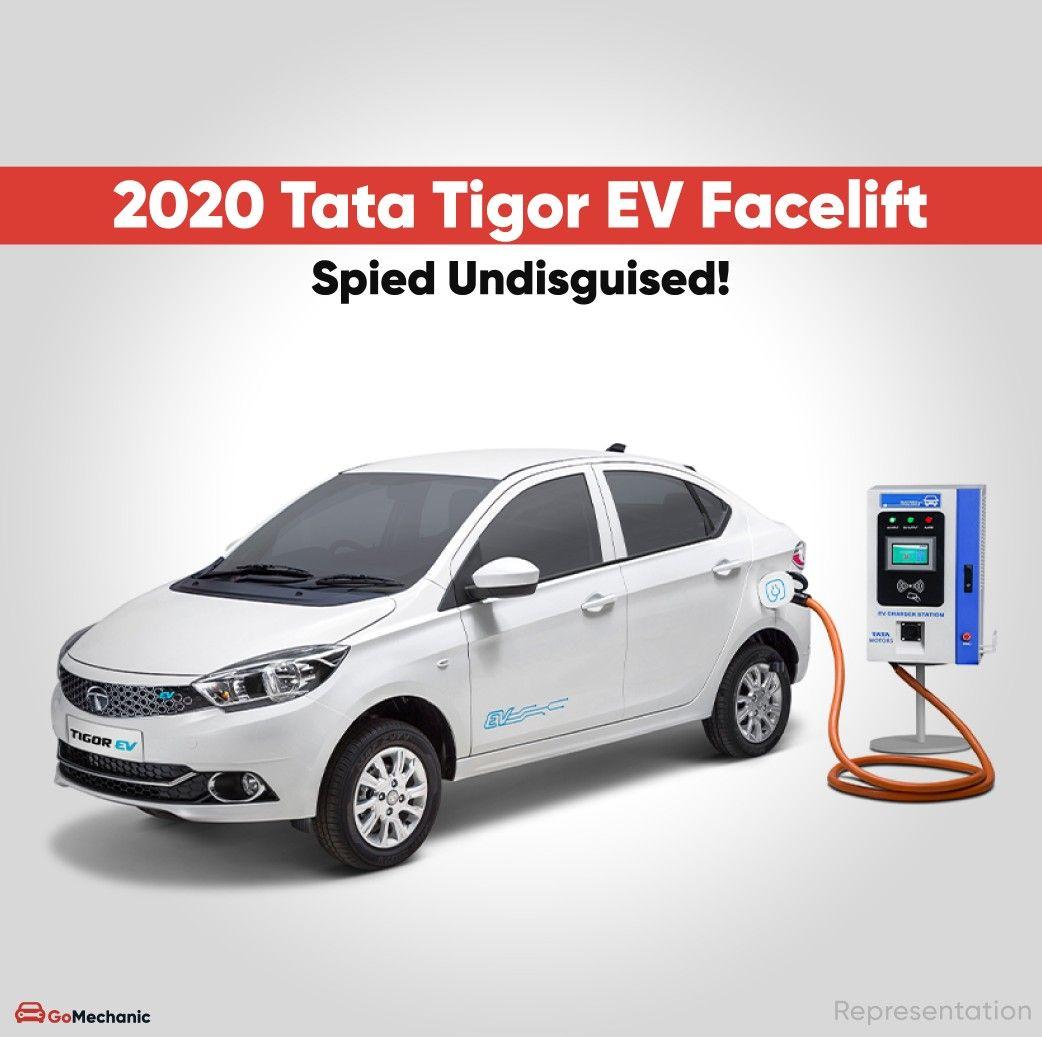 Recent spy shots have emerged of the 2020 Facelifted Tata Tigor EV totally undisguised. It is very likely that the new Tigor EV will retain the old powertrain. More info on #TheGoMechanicBlog #TataTigor #TigorEV #TataMotors #EV #ElectricCar #AutoNews #Spyshots #CarNews