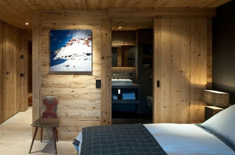 déco de chambre à coucher de style chalet moderne | Déco montagne ...