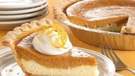Cheesecake meets sweet potato pie in a creamy dessert that's made easily with a frozen pie crust. 8 servings