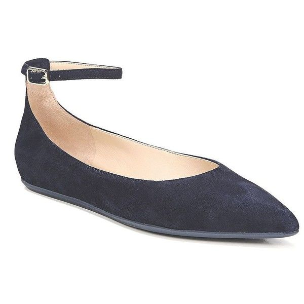 Alex Suede Ankle Strap Flats MW3zi
