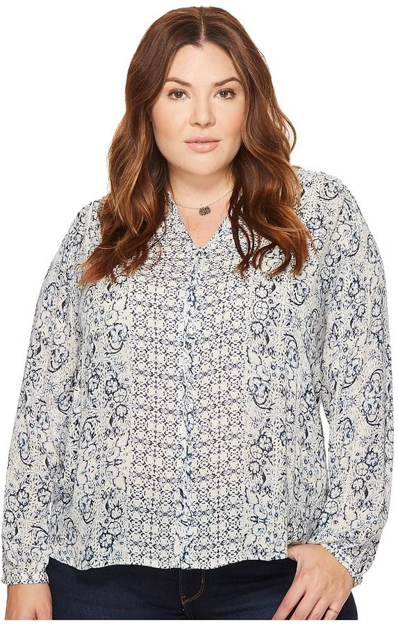 12451c49a64ea Lucky Brand - Plus Size Peasant Top Women s Clothing.