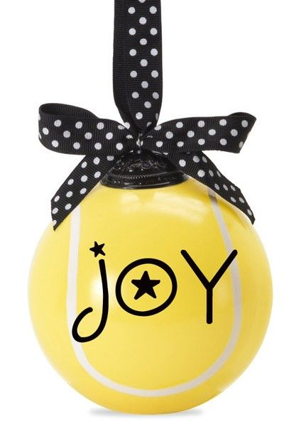 Joy Tennis Ball Ornament 2014 Tennis Holiday Ornaments