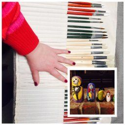 Amazon.com: 36 Paint Brushes Art Set for Acrylic, Oil & Watercolors - Quality Art Supplies for All Ages w/ Free Carry All Pouch