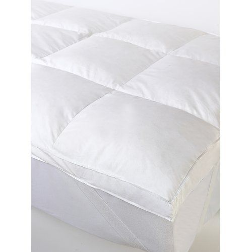 Duck Feather Mattress Topper Wayfair Basics Size Single With