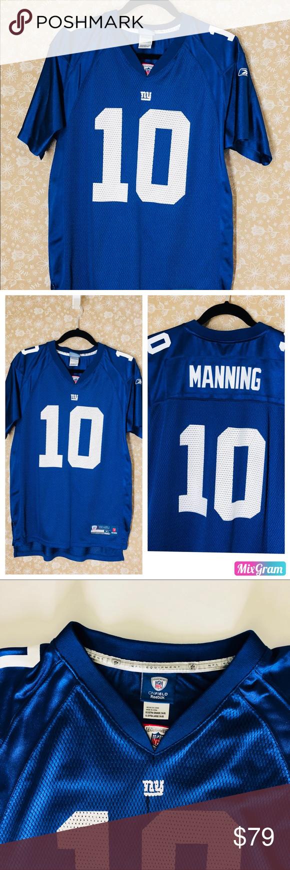 4a1b3193d Manning NY NFL Jersey NWOT NFL Pro Line Mens New York Giants Eli Manning Big    Tall Team Color Jersey NFL Shirts Polos