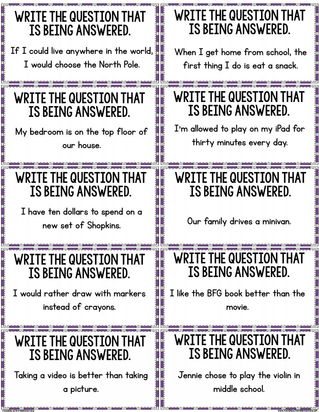 Restating The Question Activity Pdf Google Drive Teaching Reading Skills Teaching Writing School Reading [ 1325 x 1024 Pixel ]