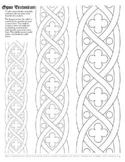 Border Pattern For Opus Teutonicum Medieval Embroidery Embroidery Patterns Quilting Designs