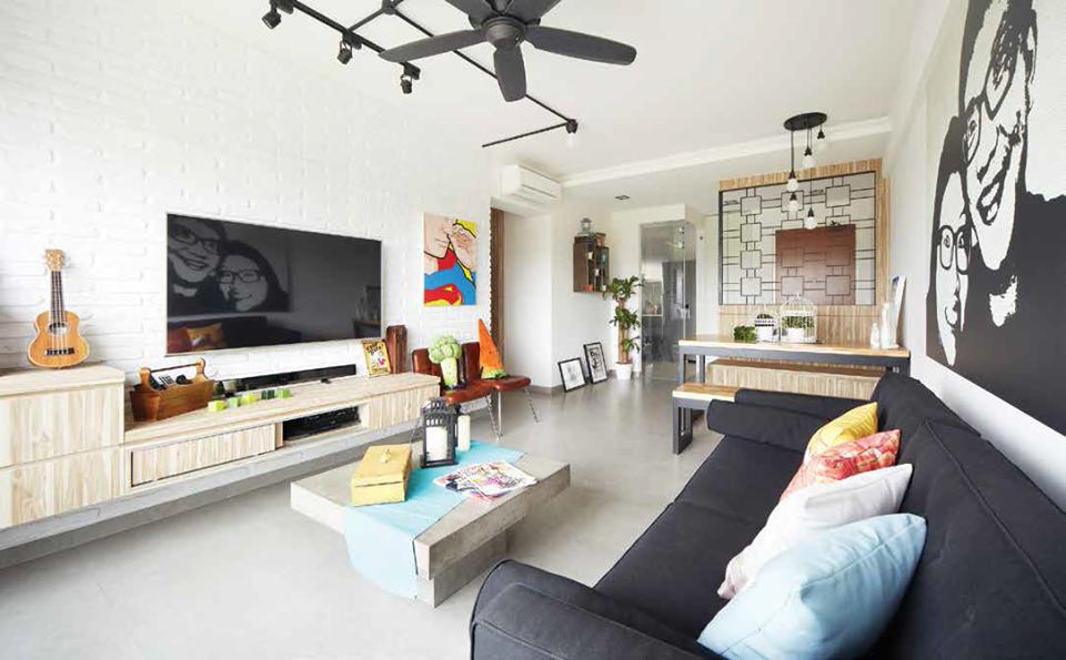 bto sofa shoe cabinet living room interior design free rh pinterest com