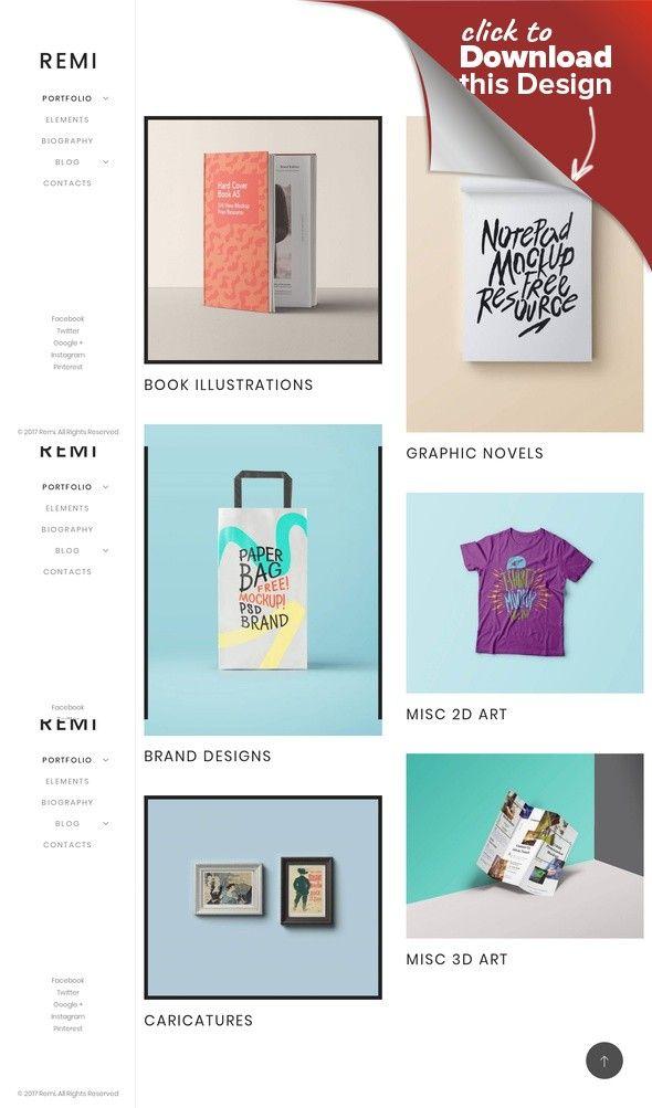 Tema de WordPress para Sitio de Portafolios de artistas Plantillas ...