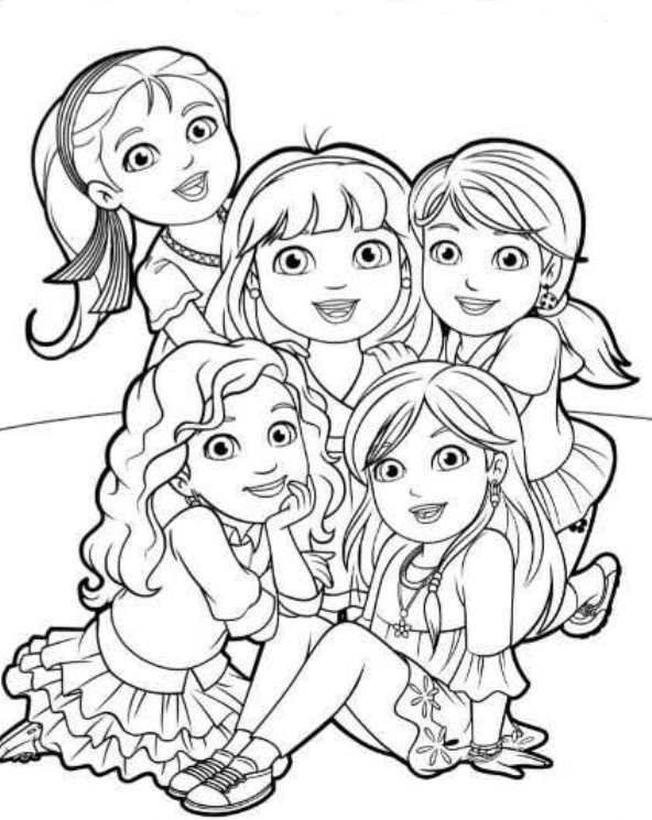 6 Coloring Pages Of Dora And Friends On Kids N Funco