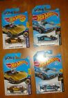 Hot Wheels Gas Monkey Garage Gold 1968 Corvette Lot Of 4  Gold and Blue  #Diecast #gasmonkeygarage