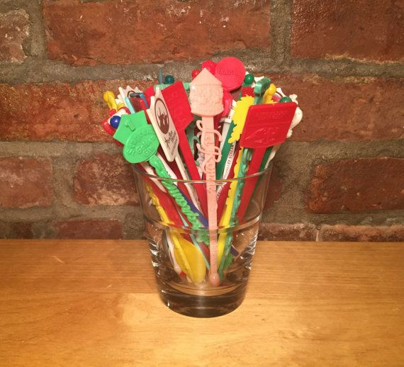 50pc Vintage Swizzle Sticks by TheSilverTuna on Etsy
