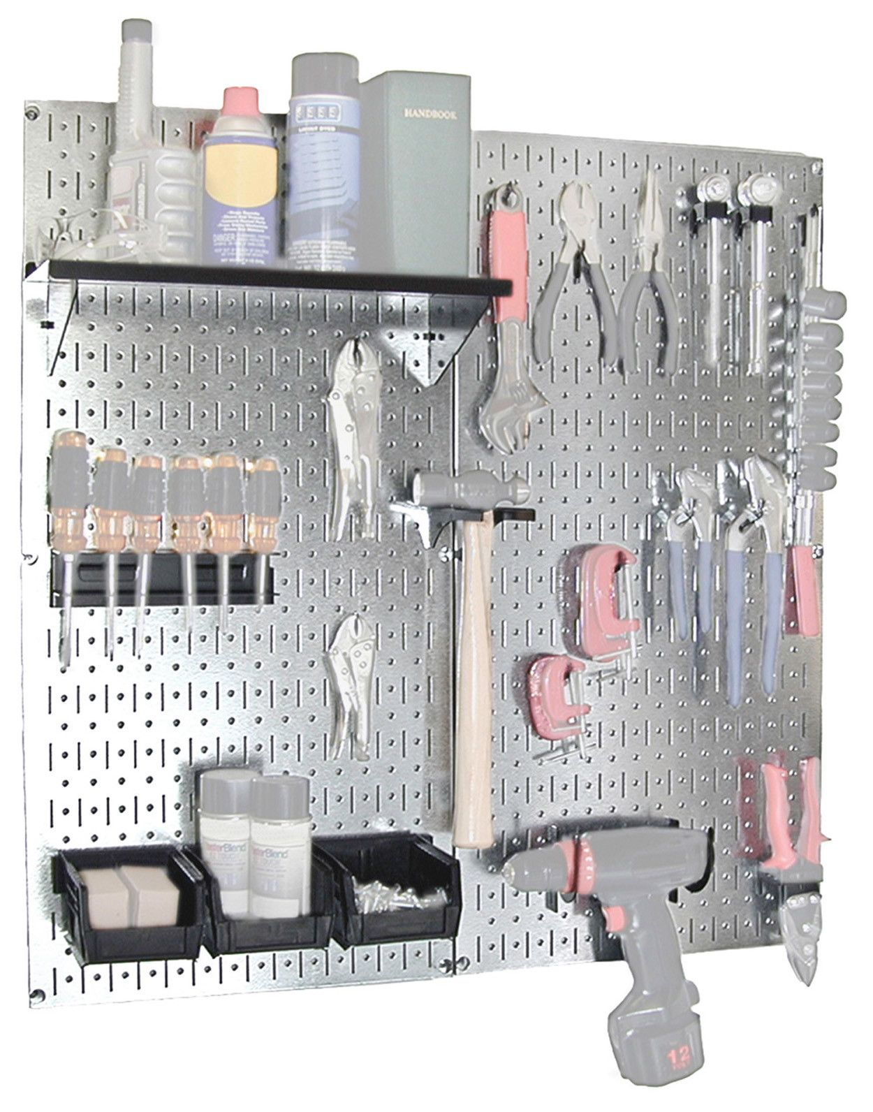 Wall Control Utility Tool Storage And Garage Pegboard Organizer Kit Reviews Wayfair Supply Pegboard Organization Steel Pegboard Storage Kits