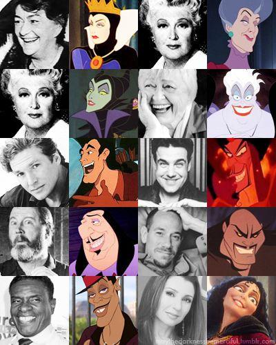 Disney Villains and their voice actors. | Disney | Disney