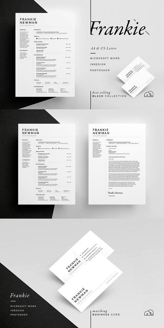 Resume/CV - Frankie Template, Resume cv and Social icons - cv vs resume