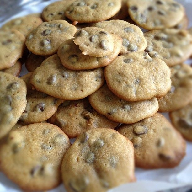 i make some delicious home-made chocolate chip cookies, if i do say so myself!