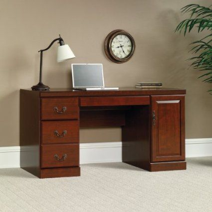 Surprising Amazon Com Classic Cherry Finish Computer Desk Credenza Home Interior And Landscaping Eliaenasavecom