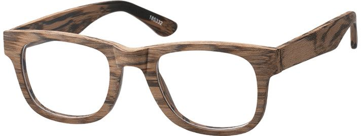 Wood Texture Acetate Full-Rim Frame #185332 | Zenni Optical ...