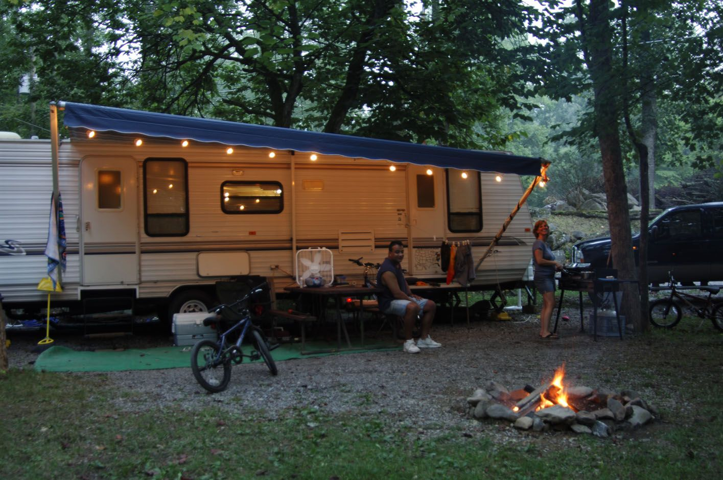 Full hook up campsites for 50 and 30 amp rvs some on