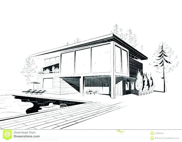Simple Architecture Design Drawing Gambar Arsitektur Sketsa Arsitektur Desain Eksterior