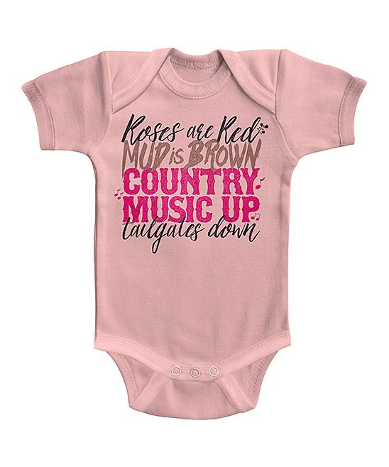 www.crankitcountry.com  with Light Pink Country Music Bodysuit - Infant | zulily