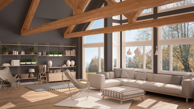 Architecte D Intérieur Auray vinyl windows   grey interior design, living room windows