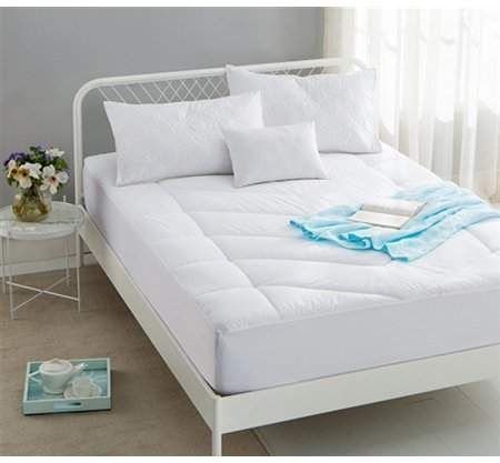 Byourbed Extra Thick Cotton Top Down Alternative Mattress Pad