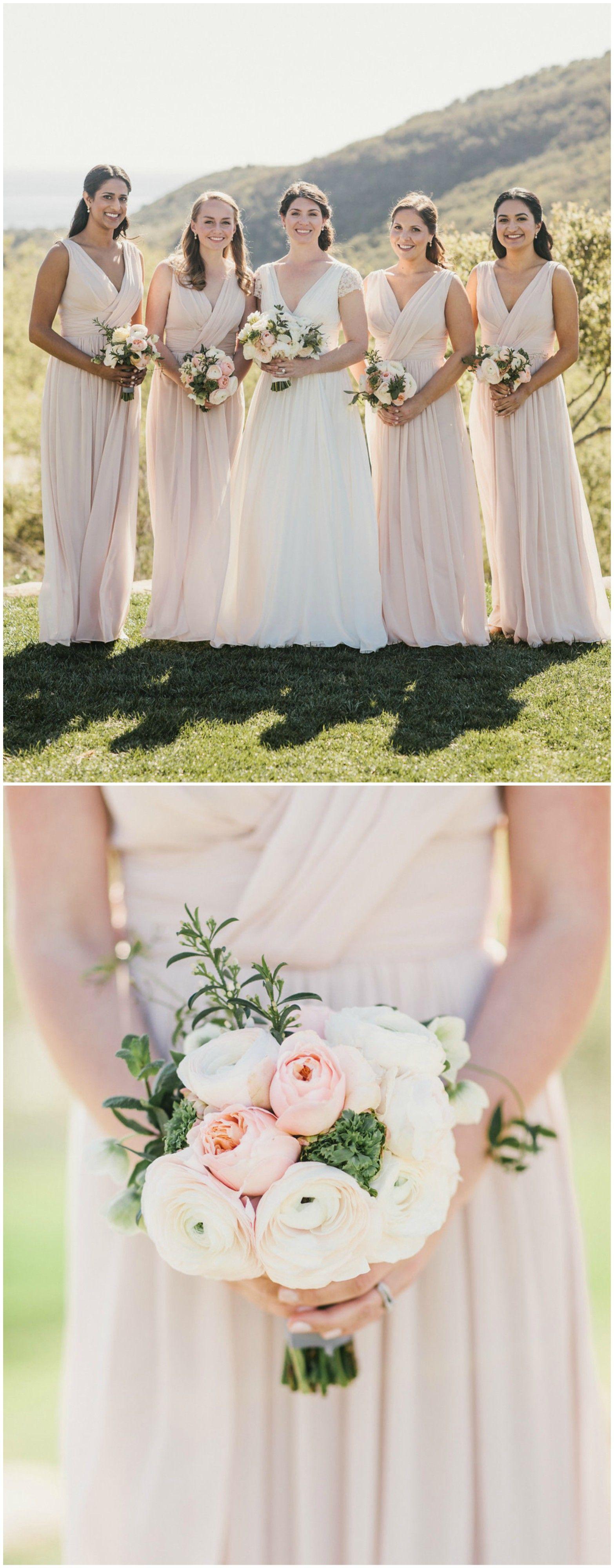Pastel pink bridesmaid dress  The Smarter Way to Wed  Long bridesmaid dresses Bridal parties and