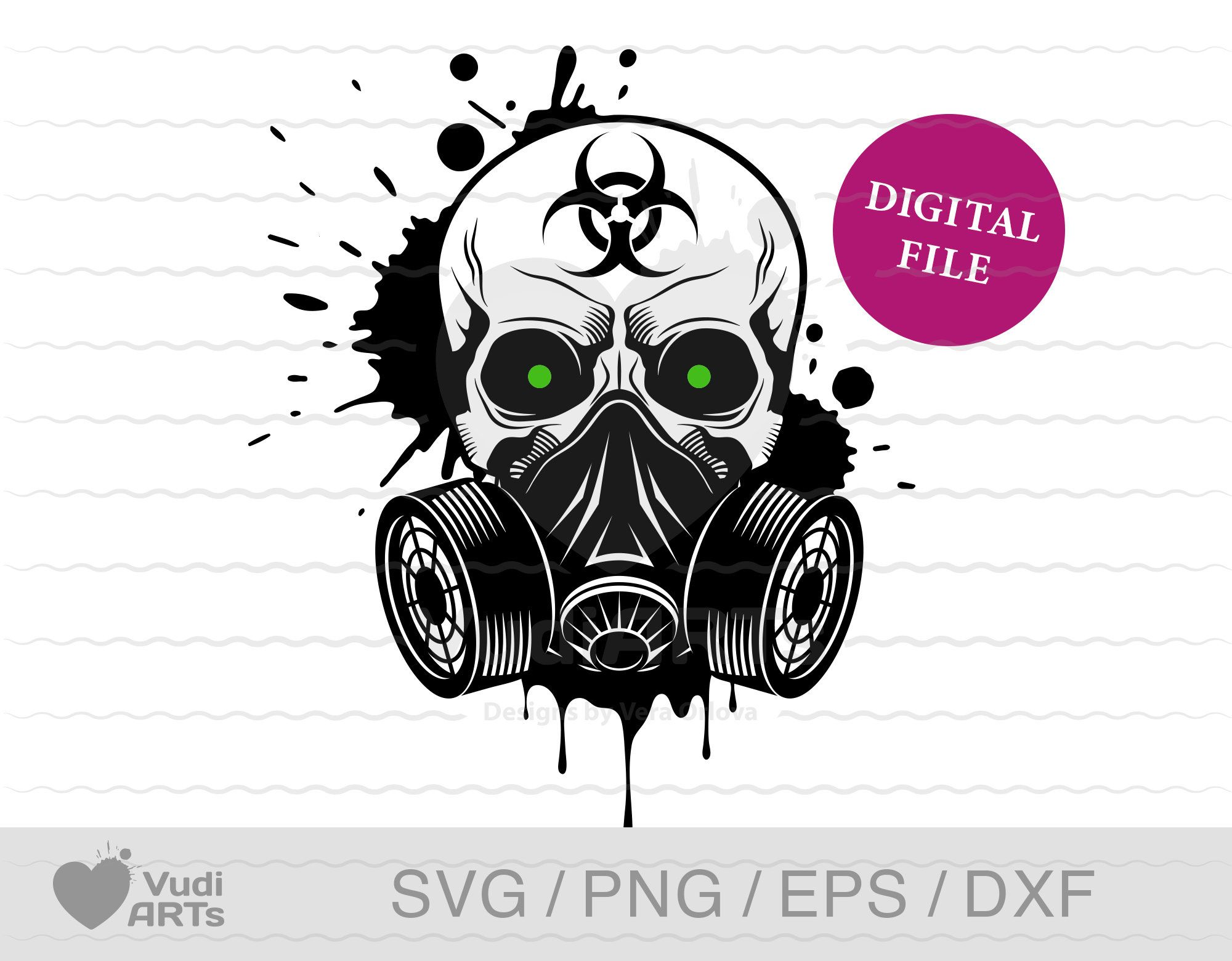 Grunge Skull In A Gas Mask Svg Distressed Skull Svg Etsy Silhouette Vector Gas Mask Vector Clipart