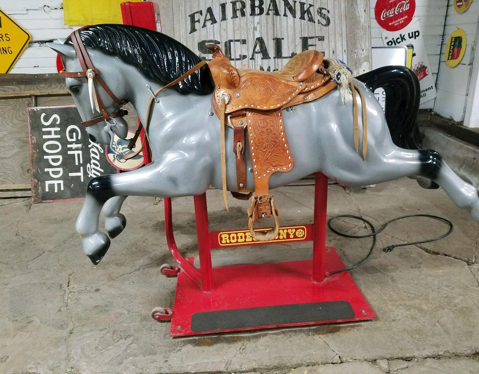 Original 1950s 2 Speed Rodeo Pony Kiddie Ride Coin ...