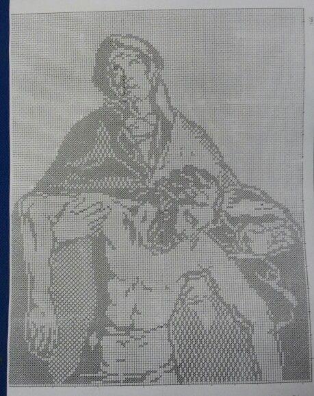La pietà   crochet-filet   Pinterest   Religiosas, Punto de cruz y ...