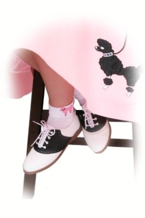 1950's Saddle shoes and pink poodle skirts. | Saddle oxford