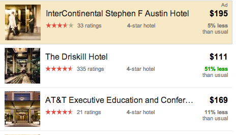 Google Experimenting With Promoted Hotels Ads On Hotel Finder