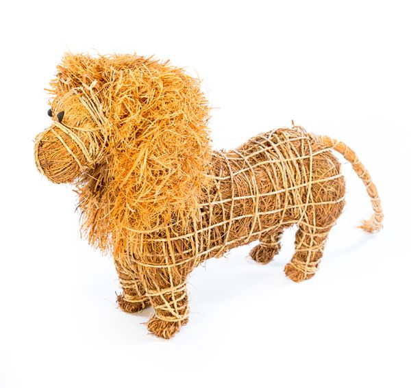 Straw Bale Lion Sculpture hand made in Ghana, Africa. Fair Trade Gifts and Home Decor ~ Swahili African Modern ~ http://www.5stmarket.com/swahili-african-modern