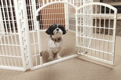 Dog Playpen Pets Gate Fence Indoor Outdoor Kennel House Portable Housebreaking Dog Playpen Pet Playpens Dog Kennel