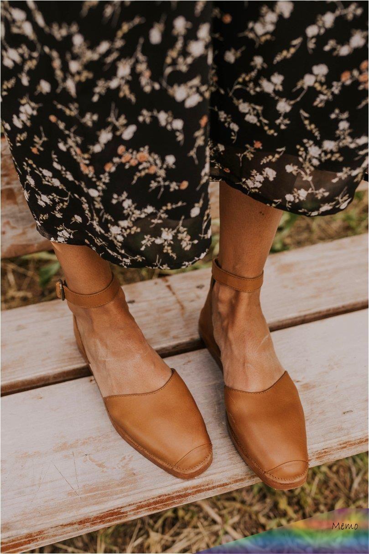 Oct 18 2019 Tan Leather Ankle Strap Flats Spring Summer Footwear Ideas For Women Closed Toe Trendy Shoes Lederschuhe Damen Schuhe Frauen Sneakers Mode