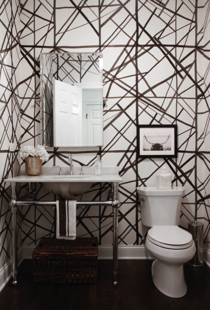 Channels, a print on paper, is the ultimate combination of abstract lines and graphic boundaries. More versatile than ever before, this best-seller is now available in nine striking colorways. @KellyWearstler #interiordesign #design #interior #homedecor #wallpaper #home #decor #interiors #homedesign #luxury #bathroom #inspiration #powderroom #housegoals #houseenvy #homeinspo  @SamanthaBlack #BlkApproved