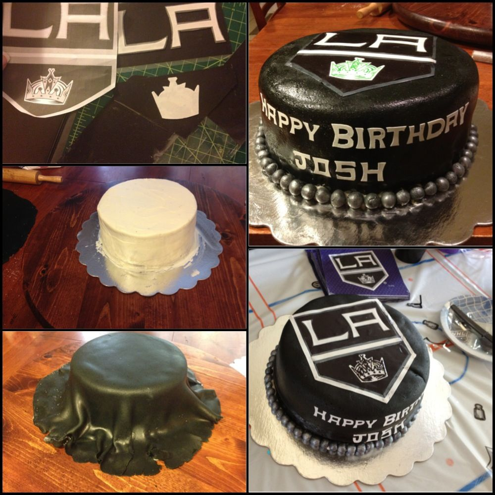 Cool LA Kings cake made by Paula Pama for my Bros bday D