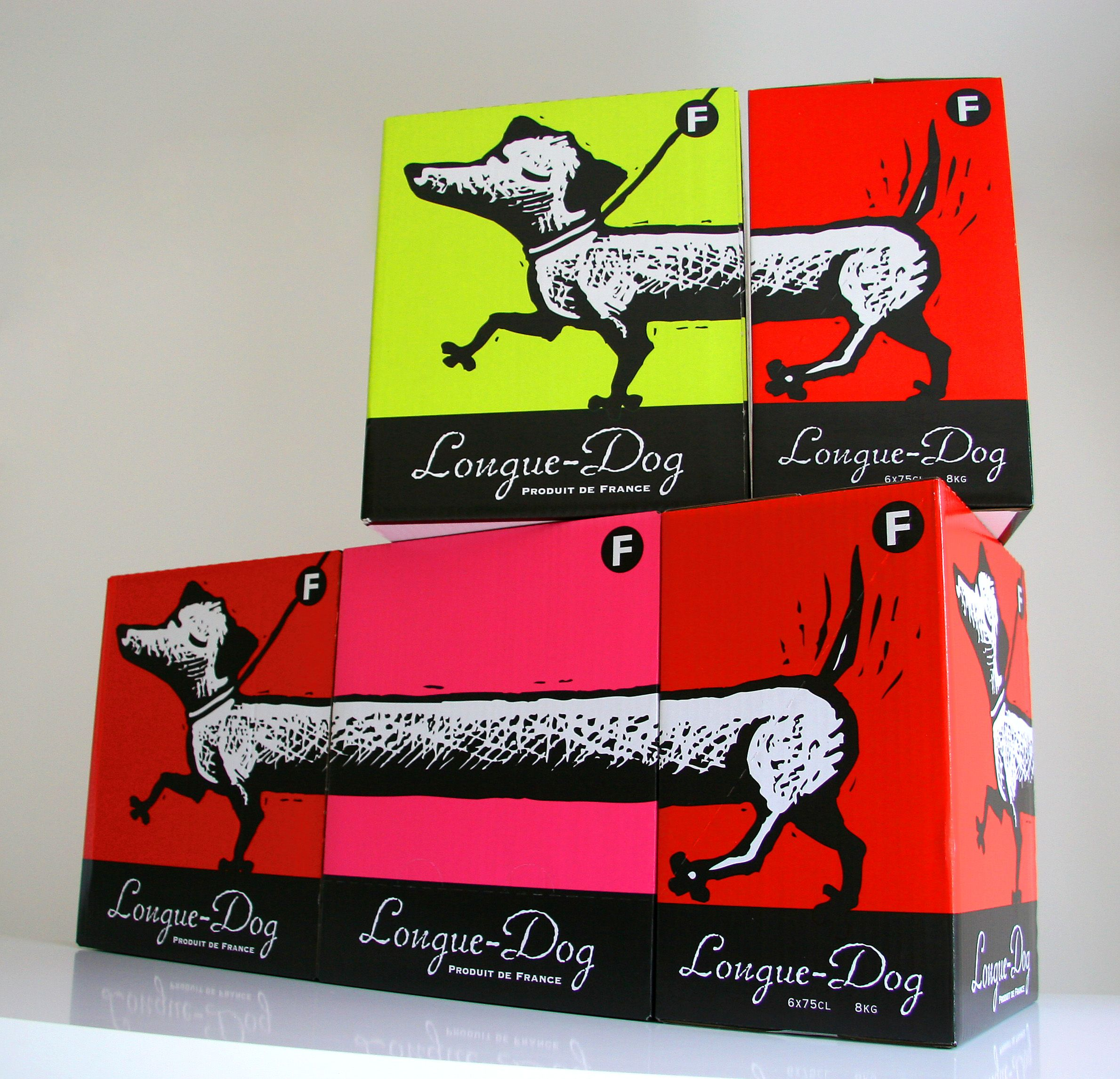 Longue Dog Using The Outers As Pos To Create A Really L O N G Dog Dachshund Design Packaging Design Sausage Dog