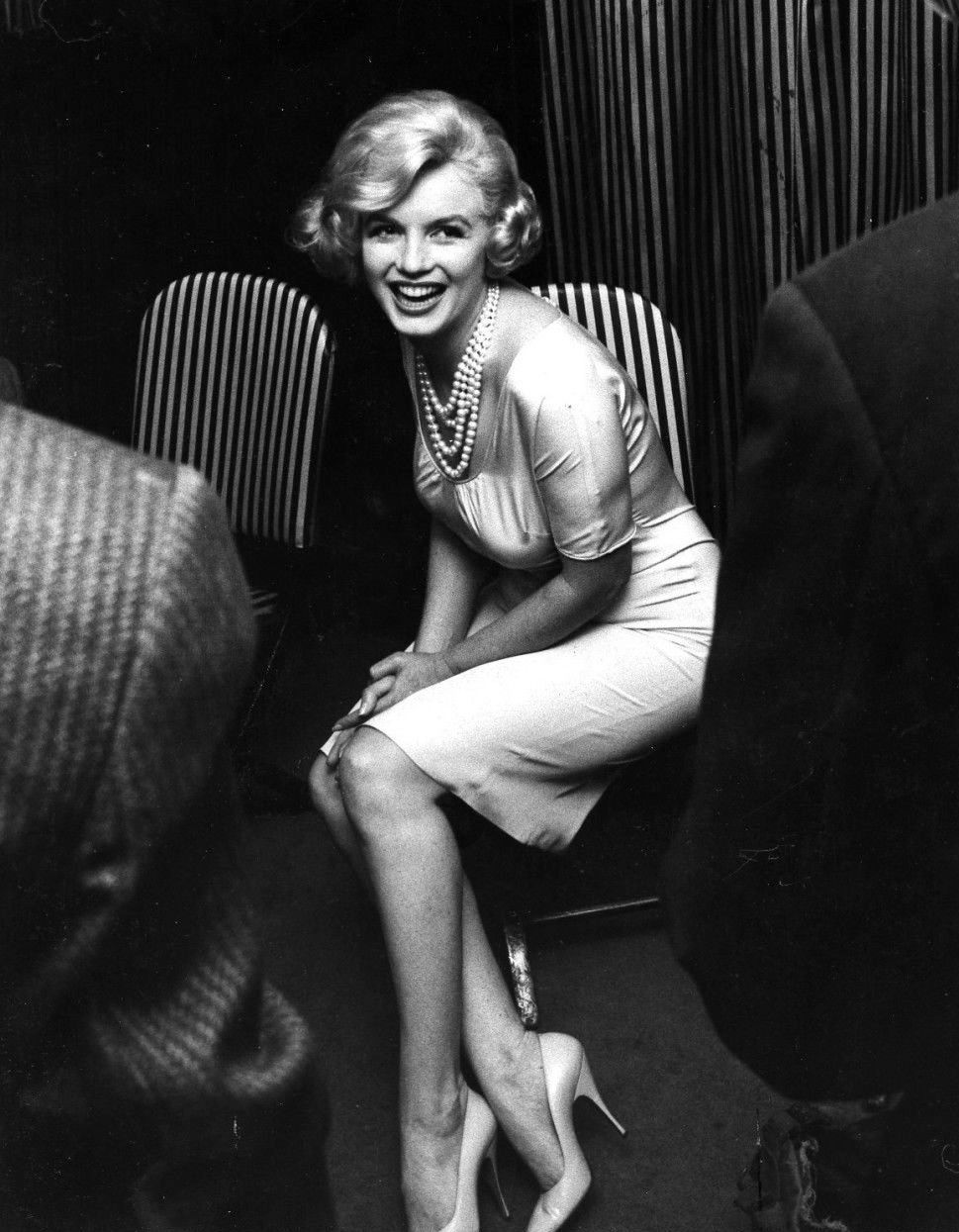 Natural Black and White Photo of Marilyn Monroe