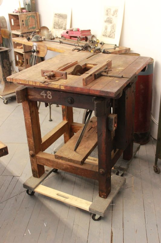 Early 20th Century Wooden Tablesaw Repurposed By Dorset Finds