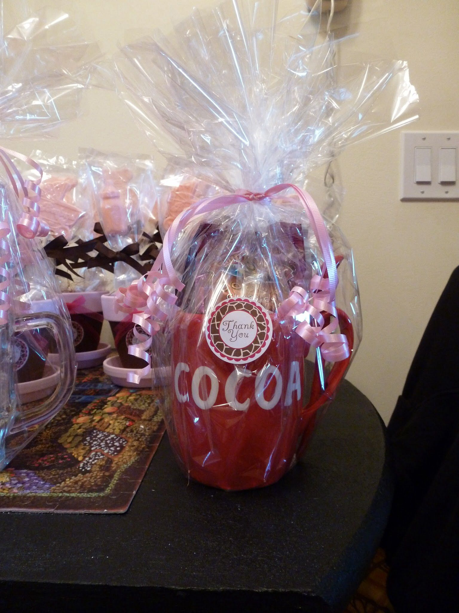 Baby Shower Game Prize: Hot Cocoa Mug Filled With Hot Chocolate Mix, Cream  And