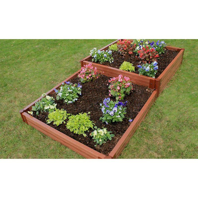 Frame It All 2 Inch Series Composite Terraced Multi Level Raised Garden Bed  Kit