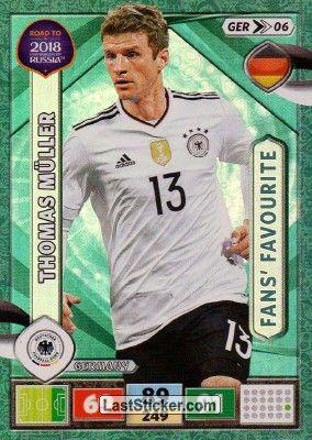 Thomas Muller Panini Road To 2018 Fifa World Cup Russia Germany Fifa World Cup World Cup Fifa