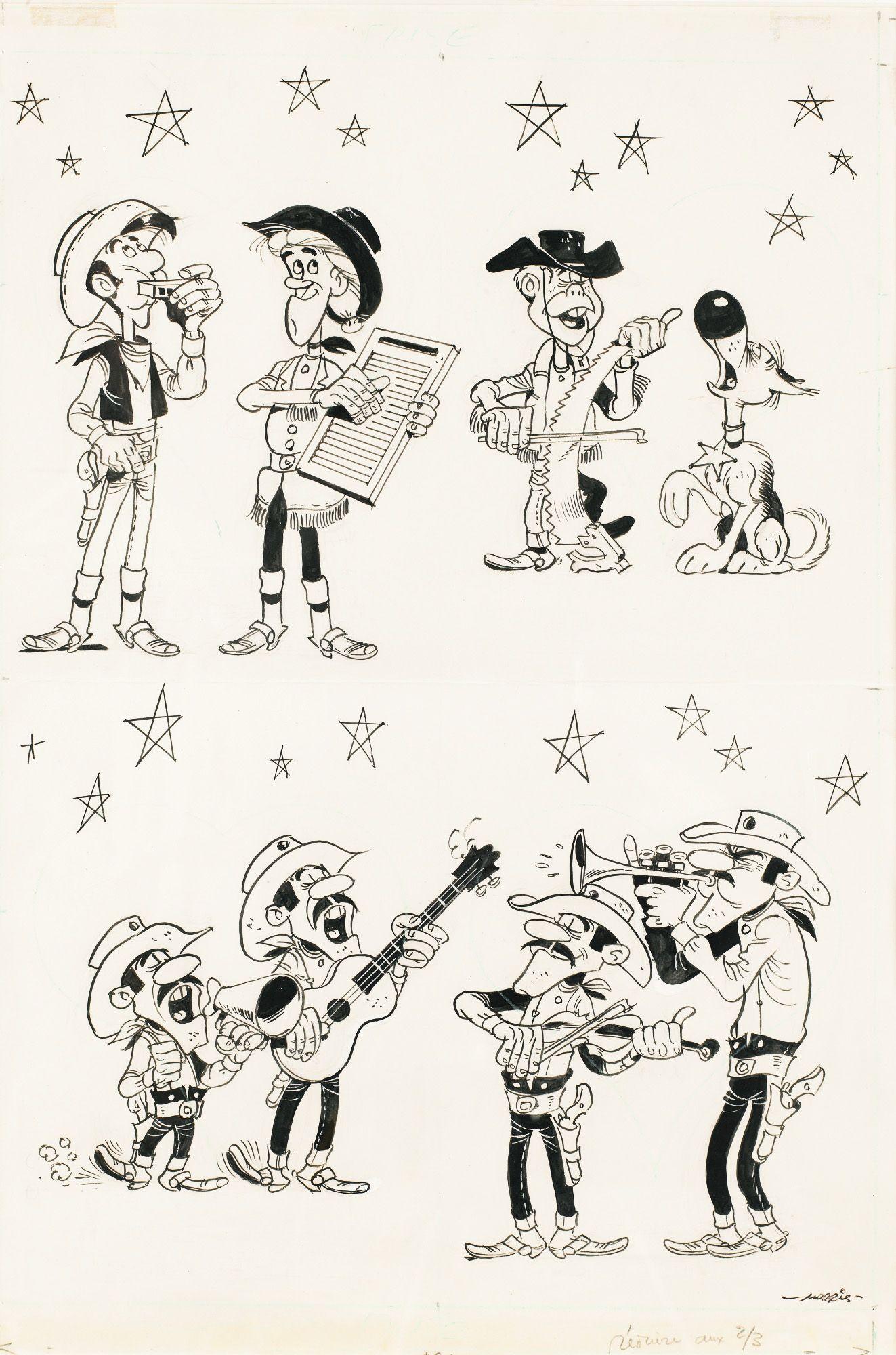 Lucky Luke Les Dalton Calamity Jane Billy The Kid Et Les Autres Par Morris 1981 Lucky Luke Lino Print Comic Illustration