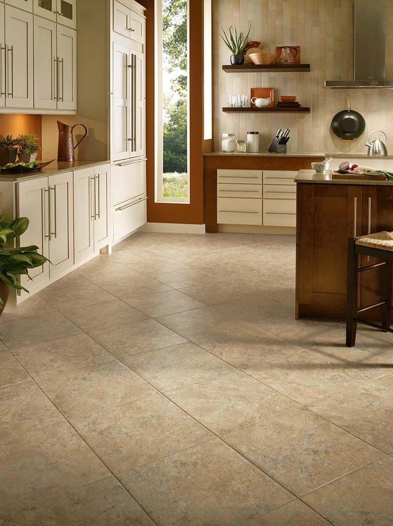 Armstrong Alterna Durango Buff Vinyl flooring kitchen