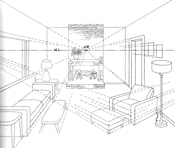 How To Draw A Room With Perspective Drawing Tutorial Of A Living Room How To Draw Step By Step Drawing Tutorials Perspective Drawing Lessons Perspective Drawing Room Perspective Drawing